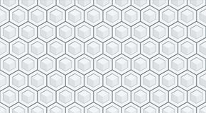 Seamless hexagon vector relief background Stock Image