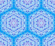 Seamless hexagonal background. Hexagonal seamless ornament, shades of blue, oriental style Stock Image