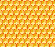 Seamless Hexagonal Cells Vector Texture. Editable, reddish background, you can change the background or cells color on any other Royalty Free Stock Photos