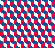 Seamless hexagonal (cube) pattern. In official colors of the Czech Republic Royalty Free Stock Photo