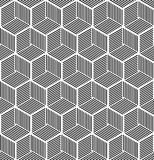 Seamless hexagonal line cube pattern Royalty Free Stock Photography