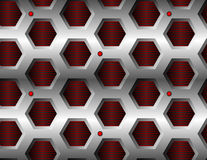 Seamless hexagonal pattern Stock Photography