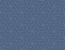Seamless hexagonal pattern . Design light blue on blue Stock Image