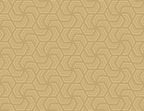 Seamless hexagonal pattern . Design light brown on brown Royalty Free Stock Images
