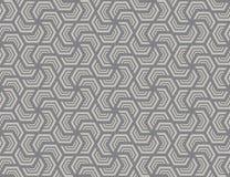 Seamless hexagonal pattern . Design silver on gray Stock Photo