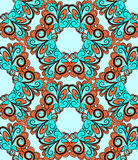 Seamless hexagonal red-cyan pattern Stock Photography