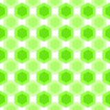 Seamless hexagonal splinter cells pattern. Abstract hexagons green cells geometric background. Seamless texture Royalty Free Stock Image