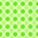 Seamless hexagonal splinter cells pattern. Abstract hexagons green cells geometric background. Seamless texture Stock Illustration