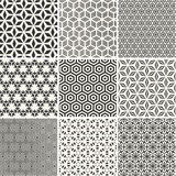 Seamless hexagons backgrounds set stock illustration