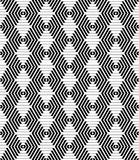 Seamless hexagons and diamonds pattern. Stock Photos