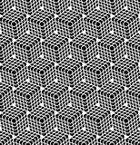 Seamless hexagons pattern. 3D illusion. Stock Photography