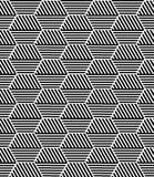 Seamless hexagons pattern. Stock Image