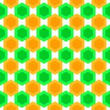Seamless hexagons pattern texture Stock Images
