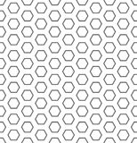 Seamless hexagons pattern. White and black geometric texture and background. stock photo