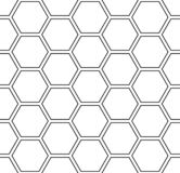 Seamless hexagons pattern. White geometric background. royalty free illustration