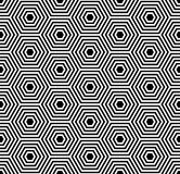 Seamless hexagons texture. Geometric pattern. stock illustration