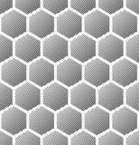 Seamless hexagons texture. Stock Image