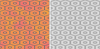 Seamless hexagons texture Royalty Free Stock Image