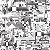 Seamless hi-tech electronic vector pattern Royalty Free Stock Photography