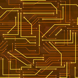 Seamless high tech background with circuit board Royalty Free Stock Photography