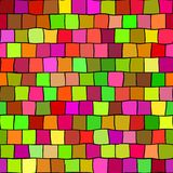 Seamless highlight colored mosaic texture pattern background - square pieces in green, orange, grown, red, pink, magenta Royalty Free Stock Images