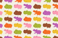 seamless hippo cartoon pattern Stock Images