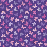 Seamless hipster background butterflies pink purple Stock Photo