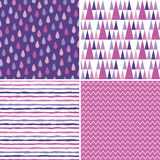 Seamless hipster background patterns purple magenta pink Stock Photo