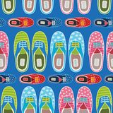 Seamless hipster gumshoes pattern Stock Photos