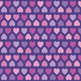 Seamless hipster hearts pattern pink purple Stock Images