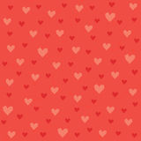 Seamless hipster hearts pattern in red and orange Royalty Free Stock Image
