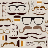 Seamless Hipster Pattern Background Stock Image
