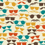 Seamless Hipster Pattern Royalty Free Stock Photo