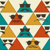 Seamless Hipster Pattern Royalty Free Stock Photos
