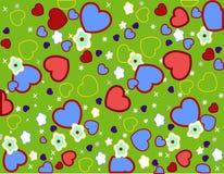 Seamless hjärta mönstrar