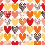 Seamless hjärta mönstrar stock illustrationer