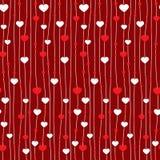 Seamless hjärta mönstrar Arkivbild