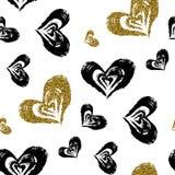 Seamless hjärta mönstrar Royaltyfri Bild