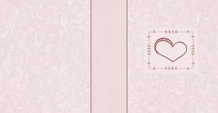 Seamless hjärtakort Arkivfoto