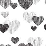 seamless hjärtamodell Lyckligt fader dagkort Arkivfoton