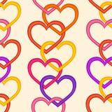 Seamless hjärtor mönstrar royaltyfri illustrationer