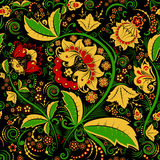 Seamless hohloma floral pattern Royalty Free Stock Images