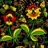 Seamless hohloma floral pattern Stock Images