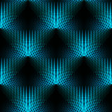 Seamless hole pattern turquoise blue black shifted dimensionally Stock Photos