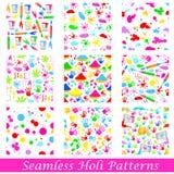 Seamless Holi Pattern Stock Photos