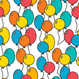Seamless, holiday background with balloons, decorative background Royalty Free Stock Photography