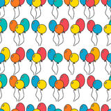 Seamless, holiday background with balloons, decorative background Royalty Free Stock Images