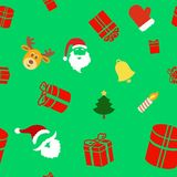 Seamless holiday background with cute Christmas Royalty Free Stock Photography