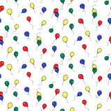 Seamless holiday balloon pattern Royalty Free Stock Images