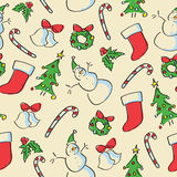 Seamless Holiday Drawing Stock Image